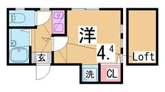 ペットOK^^築浅ハイツ^^ロフト付^^敷金礼金0円^^ 201の間取