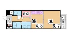 グランブルⅢ 402の間取