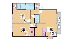 人気のファミリー物件^^カウンターキッチン オール洋室 敷地内駐車場あり^^ A201の間取