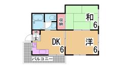ペットOKのファミリー物件^^山陽・JR垂水駅まで徒歩圏で生活しやすい地域^^ 103の間取
