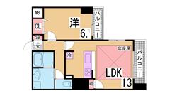 インターネット無料^^システムキッチン 浴室乾燥 オートロック TVモニター^^ 305Dの間取