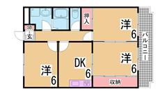 敷金0円のファミリータイプ^^人気の谷上^^スーパーもすぐ^^ 303の間取