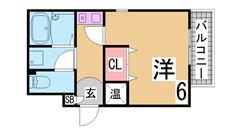 垂水駅徒歩圏内^^セパレート^^室内洗濯置場^^大型収納^^ 302の間取