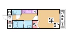 神戸ハイツDairin 301の間取