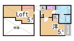 敷礼0の築浅物件^^追焚・システムキッチン・エアコンと設備も充実^^ 202の間取