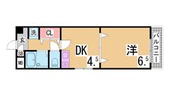 ペットOK^^セパレート ウォシュレット エアコンや照明付^^ 402の間取