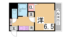 オール電化・オートロック・宅配BOX付・駅近物件 1001Bの間取