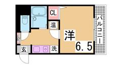 オール電化・オートロック・宅配BOX付・駅近物件 1001の間取