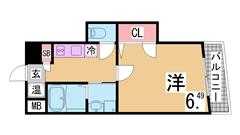 オール電化^^充実設備でこのお家賃です^^生活しやすい立地^^ 203の間取