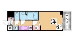 インターネット無料^^システムキッチン 浴室乾燥 オートロック TVモニター^^ 304の間取
