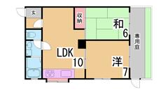 人気のファミリーマンション 閑静な住宅地 バイク置き場 広々専用庭 103の間取