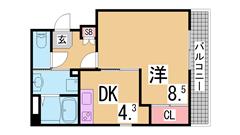新長田駅・スーパー・商店街すぐのオートロック・エレベーター付マンション^^ 302の間取