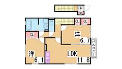 駐車場1台込み^^1坪タイプの大きい浴室^^収納豊富^^保証人不要^^ 201の間取