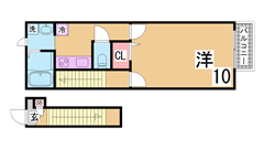 ラフィーネ神戸 North Wing 212の間取