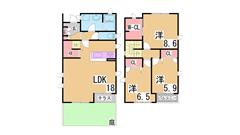 駐車場2台付^^広い庭つき^^ペットOK^^保証人不要^^ Dの間取