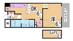 アーバネックス神戸駅前 203の間取