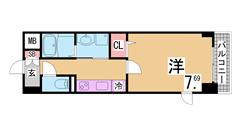 ALSOKホームセキュリティ付の谷上駅近マンション^^システムキッチンガス3口 301の間取