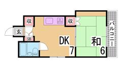 敷金礼金なし^^駅1分^^エレベーター付マンション^^ 403の間取