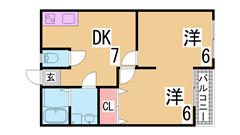 室内フルリノベーション システムキッチン バス、トイレ、洗面等リニューアル 103の間取