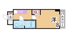 分譲賃貸リノベーション部屋 3点セパレート 駅近物件 403の間取