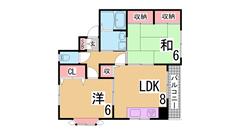 あんしん+白川台 203の間取