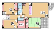 人気の西神中央徒歩圏の広々ファミリータイプ^^広いリビングシステムキッチン^^ 403の間取