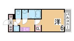 H21年リノベーション物件^^広々洋室^^浴室乾燥・シャンプードレッサー付^^ 204の間取