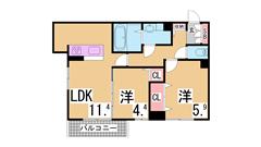 駐車場3千円 敷金礼金なし 人気のリノベーションマンション 205の間取