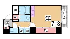 広い・キレイ・大型収納・3点セパレート・ペットOK・敷金礼金¥0駅近で生活も^^ 202の間取