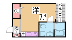 一階はスーパーで便利 人気の会下山小学校区 日当たり眺望良好です 804の間取