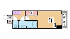 ペットOK^^システムキッチン 追焚機能付浴室^^保証人不要^^ 201の間取
