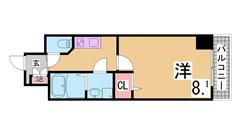 インターネット料込^^駅すぐ^^オートロック・システムキッチンIH2口^^ 105の間取