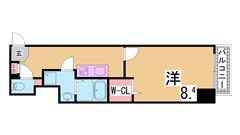 インターネット使い放題 駅近の広々空間でゆとりの生活 303の間取