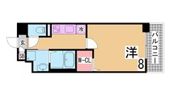 オール電化・オートロック付の築浅マンション^^大型スーパー・コンビニもすぐ^^ 201の間取