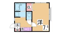 日当たり・風通し良しのマンション セパレート 閑静な地域です  203の間取