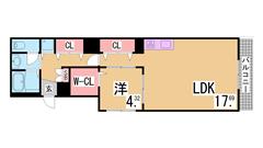 築浅分譲賃貸^^女性に人気^^システムキッチンガス2口・浴乾・オートロック付^^ 307の間取