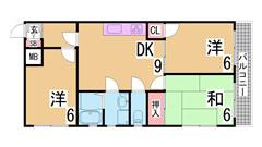 人気の谷上駅近でこの広さでこのお家賃 人気物件です 302の間取