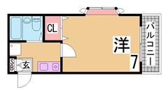 敷金・礼金0円 親和女子学生に人気のかわいいハイツ  111の間取