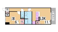 オール電化の築浅マンション^^須磨海浜公園駅目の前^^お急ぎください^^ 203の間取