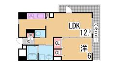 インターネットホームセキュリティ『アイルス』導入 システムキッチン・宅配BOX 701の間取