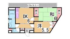 兵庫駅徒歩2分 新婚様におすすめ JCOMインターネット無料 501の間取