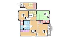 ペットOK^^室内きれいにリフォーム済^^大手ハウスメーカー施工^^ 201の間取