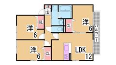 オール洋室 大手ハウスメーカー施工のファミリー物件 人気のカウンターキッチン A202の間取