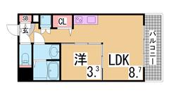 オートロック・宅配BOX・システムキッチン等設備充実^^インターネット無料^^ 402の間取