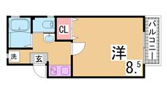 A-EAST須磨海浜公園 201の間取