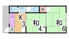 人気の新長田徒歩圏内^^三点セパレート 室内洗濯置場 ガスコンロ^^ 102の間取