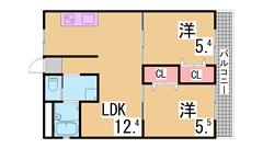 敷金礼金なし フルリノベーション物件 システムキッチン TVモニター 208の間取