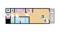 ララプレイス神戸西元町 201の間取