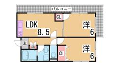 2Fに1戸のみなので音も気にすることはありません 大手ハウスメーカー施工 201の間取