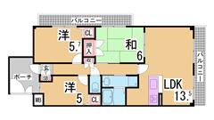 床暖房・浴室TV・ミストサウナ・ホームセキュリティ等設備充実^^ 302の間取